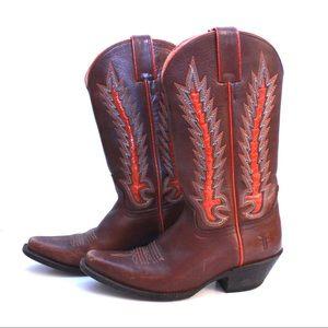 Vintage FRYE Cowboy Western Pull-On Boot